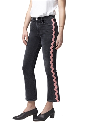 Citizens of Humanity Demy Cropped Flare in Date Night Pink Wave