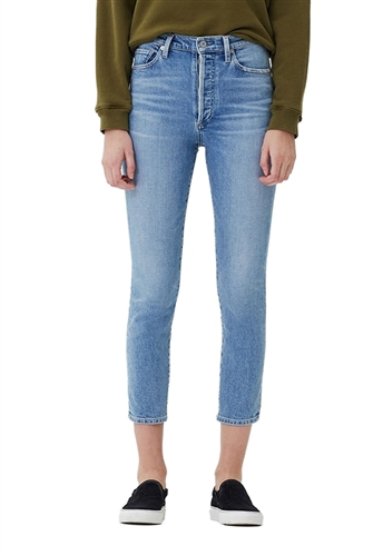 Citizens of Humanity Olivia Seam High Rise Slim Crop in Outset