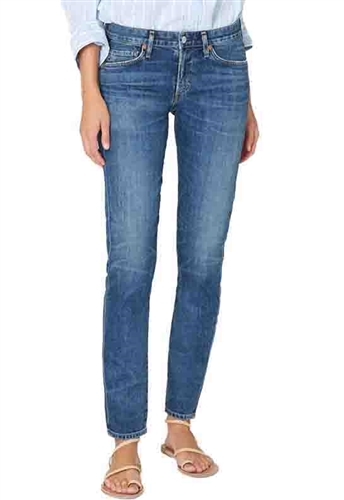 Citizens of Humanity Racer Low Rise Skinny Jeans in Caspian