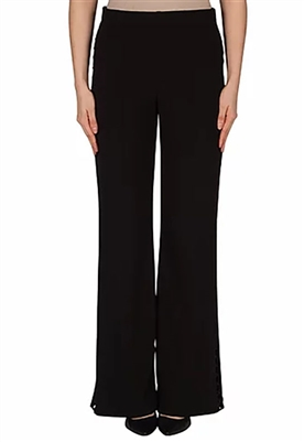 Joseph Ribkoff Circle Seam Accent Wide Leg Pant in Black