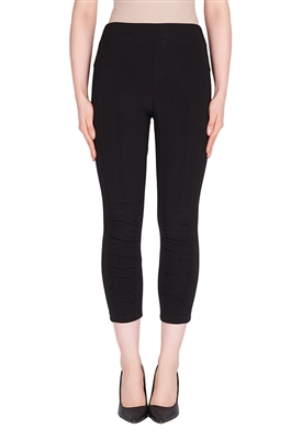 Joseph Ribkoff Ruched Leg Pant in Black