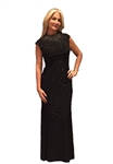 Joseph Ribkoff Sleeveless Gown in Black