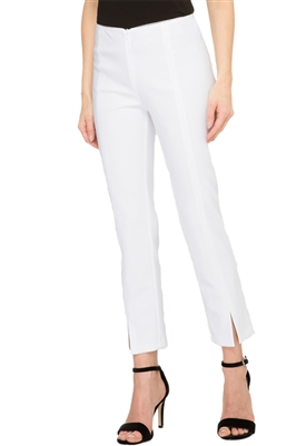 Joseph Ribkoff Slip On Crop Pant in White