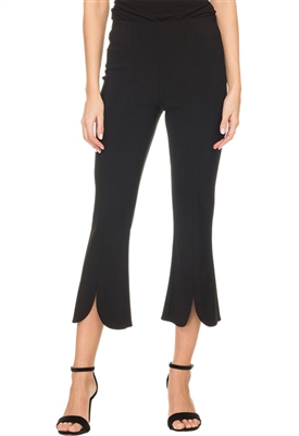 Joseph Ribkoff Flared Hem Capri Pant in Black