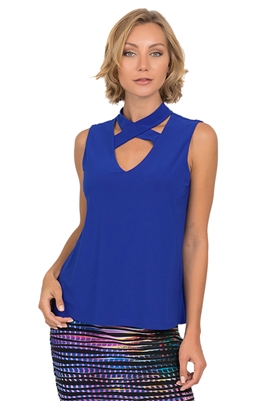 Joseph Ribkoff Crisscross Tank in Royal