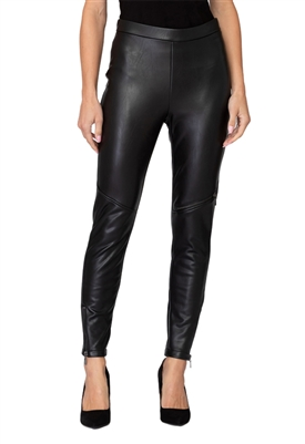 Joseph Ribkoff Faux Leather Pant in Black