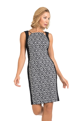 Joseph Ribkoff Sleeveless Illusion Panel Dress