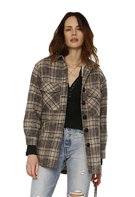 Heartloom Cooper Coat in Black Plaid