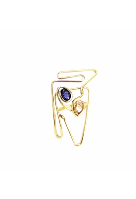Sibilla G Pyramid Ring 18K Gold Plated