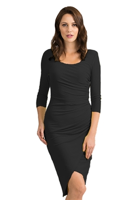 Joseph Ribkoff 3/4 Sleeve Dress in Black