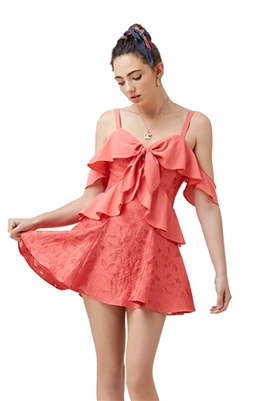 Finders Keepers Kindred Mini Dress in Papaya