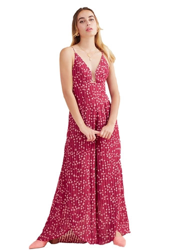 Finders Keepers Twilight Jumpsuit in Cherry Star