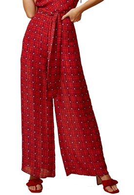 Finders Keepers Sorrento Pant in Red Check