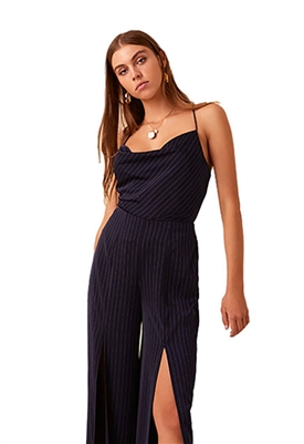 Finders Keepers Flamenco Cami in Navy Stripe