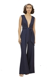 Finders Keepers Essie Wide Leg Pantsuit in Navy