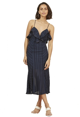 Finders Keepers Soraya Dress in Navy