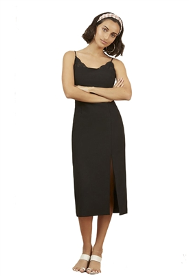 Finders Keepers Kobie Midi Dress in Black