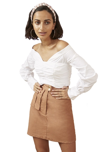 Finders Keepers Bailey Shirting Bodice in White