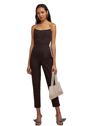 Finders Keepers Naomi Strapless Pantsuit in Black
