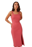 Finders Keepers Polermo Midi Dress in Rose