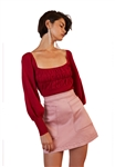 Finders Keepers Desire Knit Top in Berry