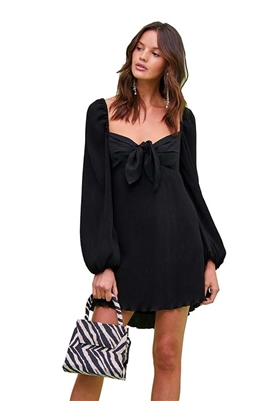 Finders Keepers Adeline Mini Dress in Black