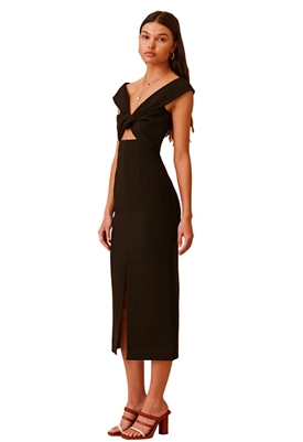 Finders Keepers Mae Midi Dress in Black