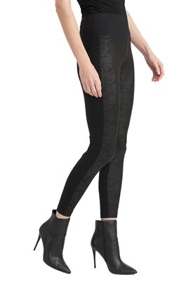 Joseph Ribkoff Faux Leather Legging in Black