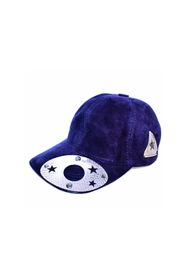 Sibilla G Galaxy Suede Baseball Cap in Deep Purple