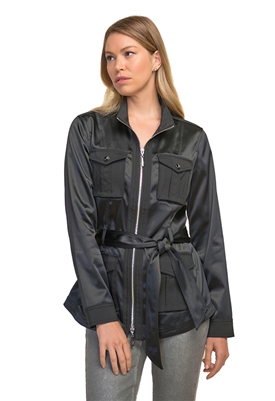 Joseph Ribkoff Safari Sateen Jacket in Black