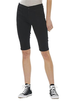 Blue Revival Teddy Cargo Biker Short in Black