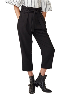 Allen Schwartz Nina Paperbag Pants in Black
