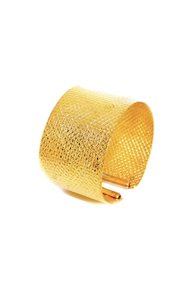 Sibilla G Diamond Cut Yellow Gold Cuff