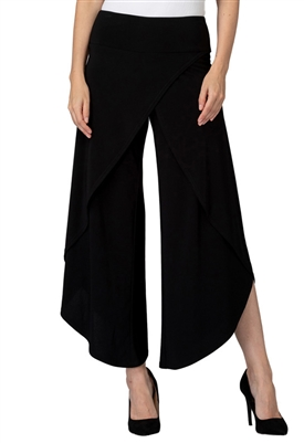 Joseph Ribkoff Faux Wrap Pant in Black