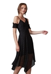 Keepsake Last Chance Midi Dress in Black