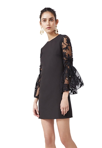 Keepsake Fast Lanes Mini Dress in Black