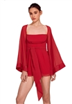 Keepsake Back To You Playsuit in Crimson