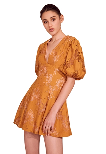 Keepsake This Love Mini Dress in Amber