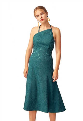 Keepsake Endless Love Midi Dress in Emerald