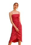 Keepsake Boundaries Midi Dress in Scarlet Red