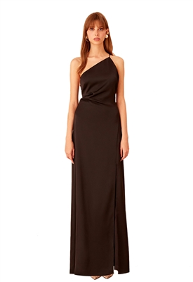 Keepsake Captivating One Shoulder Gown in Black