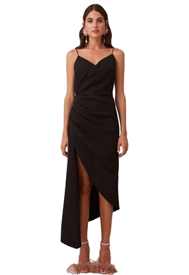 Keepsake Finale Midi Dress in Black