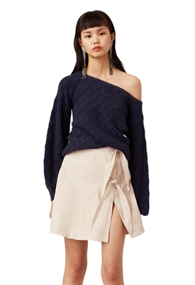 Keepsake The Label Dilemma Knit Top in Midnight