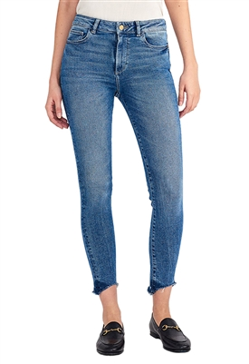 DL1961 Farrow Ankle High Rise Skinny Jean in Burton