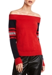 Bailey 44 Derrah Off The Shoulder Sweater in Cardinal