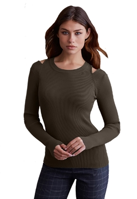 Bailey 44 Martha Sweater in Army