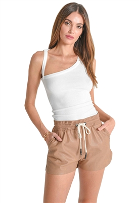 n:Philanthropy Maura Vegan Leather Short in Camel