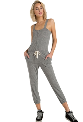 Philanthropy Berry Jumpsuit in Heather Grey