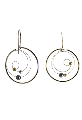 Sibilla G Galaxy Earrings in Stainless Steel