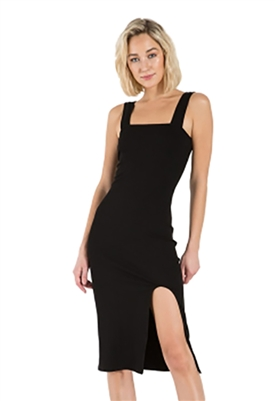 n:Philanthropy Key Sleeveless Midi Dress in Black Cat